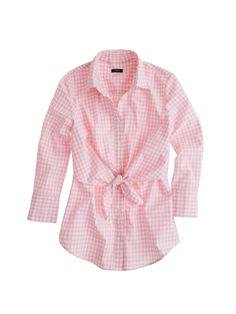Pink gingham worn with straw wedges and white pedal pushers in San Franscisco!: so me