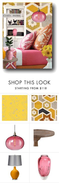 """""""Pink & Yellow Sweet Dreams"""" by kelly-floramoon-legg ❤ liked on Polyvore featuring interior, interiors, interior design, home, home decor, interior decorating, Timorous Beasties, Cuero, Disney and homedecor"""