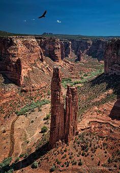 Spider Rock, Canyon de Chelly, Arizona, USA
