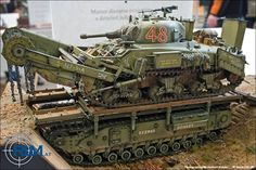 M4A1 Sherman Crab Mine Flail Tank. Absolut geiles Diorama! Geile Details und Farben