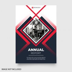 Modern annual report with abstract shapes Free Vector Flyer Design, Flugblatt Design, Game Design, Banner Design, Graphic Design Brochure, Brochure Layout, Graphic Design Posters, Brochure Template, Leaflet Template