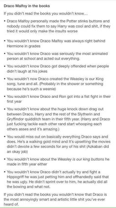 Draco feels