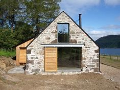 Leachachan Barn - Rural Design Architects - Isle of Skye and the Highlands and Islands of Scotland Stone Barns, Stone Houses, Barn House Conversion, Barn Conversions, Tudor, Best Barns, Cabin In The Woods, Hacienda Style, Diy Garden