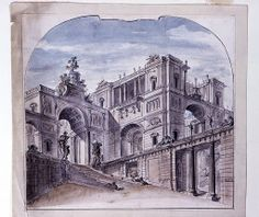 """Drawing, """"Stage Design: Palace Architecture"""", 1750–99http://collection.cooperhewitt.org/departments/"""