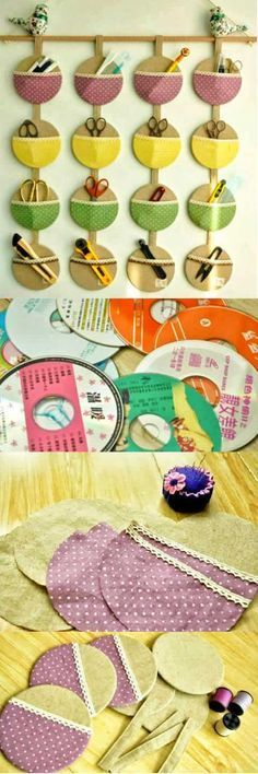 , present - DIY Home Decor Projects - Easy DIY Craft Ideas for Home Decorating Cd Crafts, Crafts For Teens, Hobbies And Crafts, Crafts To Sell, Sewing Crafts, Diy And Crafts, Arts And Crafts, Easy Crafts, Recycled Cds