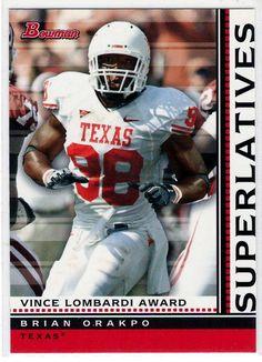 Sports Cards 2009 Bowman Superlatives (Vince Lombardi Award) Brian Orakpo # S8