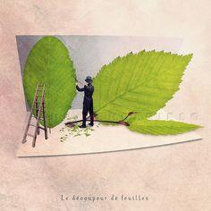 Green leaves photography, Fun print, Fun art, Spring decor, Nature lover, Nature decor, Nature photography, Leaf cutter, 6x6 (15x15cm)