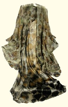 Ecoprint on silk dress and cape. | Flickr - Photo Sharing!