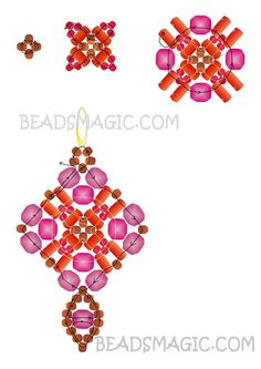 Free pattern for earrings Holiday Balcony | Beads Magic