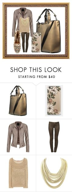 """Golden Brown"" by bren-johnson ❤ liked on Polyvore featuring JAY. M, Casetify, maurices, ONLY, Tamara Mellon, Kendra Scott and Kardinale"