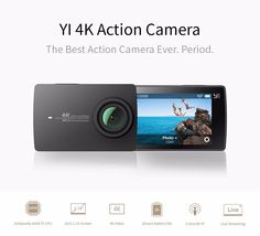 "YI 4K Action Camera International Edition Ambarella A9SE Cortex-A9 ARM 12MP CMOS 2.19"" 155 Degree EIS LDC WIFI //Price: $249.99 & FREE Shipping //     #discount"