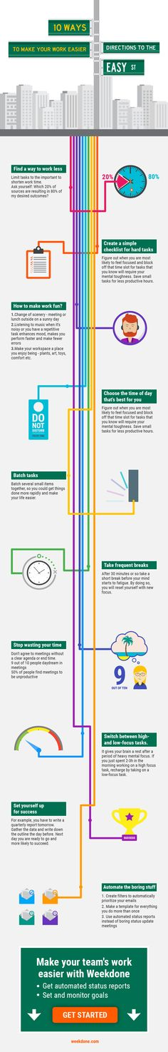 10 Ways to Make Work Easier (Infographic)