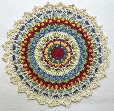 Crochet Granny Square Star Libraries Ideas For 2019 Motif Mandala Crochet, Crochet Lace Edging, Crochet Motifs, Crochet Stitches, Filet Crochet, Beau Crochet, Crochet Diy, Crochet Home, Thread Crochet