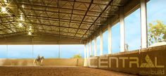 Indoor Riding Arena with Kickrail System