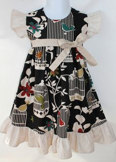 Ready for fall.  Girls Twitter Dress Sz 12mo6yrs by Outtahand on Etsy