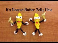Rainbow Loom Peanut Butter Jelly Time - Banana Tutorial