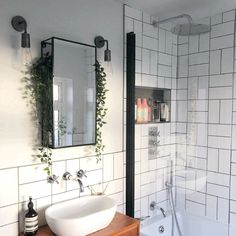 Bathroom Interior Design Lighting Trends – Home living color wall treatment kitchen design Bathroom Trends, Modern Bathroom, Small Bathroom Ideas, Industrial Bathroom, Modern Small Bathrooms, Bathroom Inspo, Small Bathroom With Shower, Designs For Small Bathrooms, Vintage Industrial