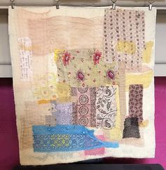 Second phase of Lockdown 2020. Vintage and natural dyed fabrics, with added hand stitching. Ann Stephens Hand Embroidery Stitches, Hand Stitching, Ann, Fabrics, Textiles, Quilts, Blanket, Natural, Vintage