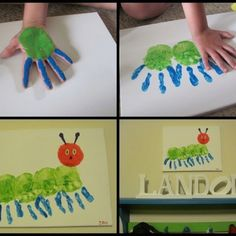 Very hungry caterpillar art