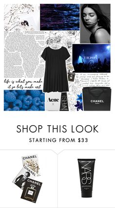 """i feel like i'm always dreaming"" by lucidmoon ❤ liked on Polyvore featuring Chanel, Assouline Publishing, NARS Cosmetics and Monki"