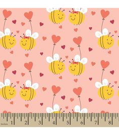 Snuggle Flannel Fabric-Bee In Love