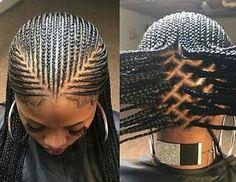 African Hair Braiding : braiding hairstyles feed in braids - Beauty Haircut Bob Braids, Braids Wig, Twist Braids, Cornrows, Braided Ponytail Hairstyles, African Braids Hairstyles, Chunky Box Braids, Colored Hair Roots, Short Sassy Hair
