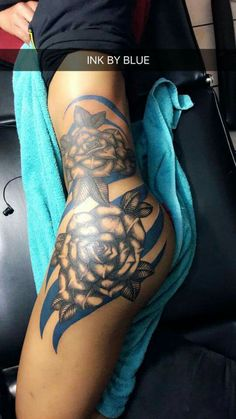 ROSES AND STRIPS TATTOO!♡