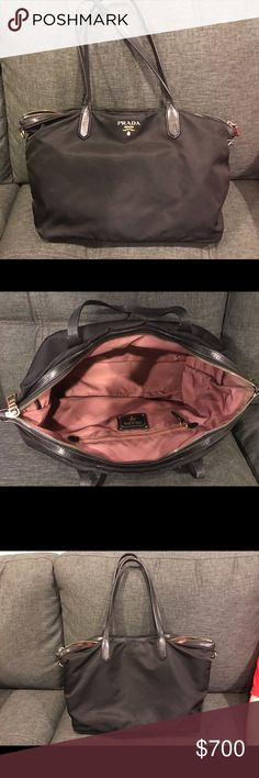 Prada vinyl bag Prada bag. Used in good condition. Prada Bags Totes