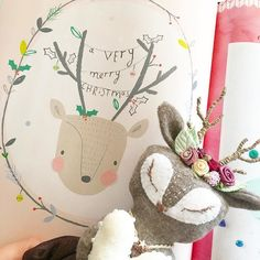 Aw this cute illustration by @alessbaylis in the latest @molliemakes looks just like my little handmade fawn Christmas tree angel  this is going on the wall right next to my Christmas tree