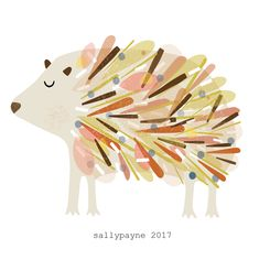 Illustration and surface pattern Hedgehog Illustration, Watercolor Illustration, Love Lily, Hawaiian Quilts, Poster Pictures, People Art, Surface Pattern Design, Background Patterns, Cat Art