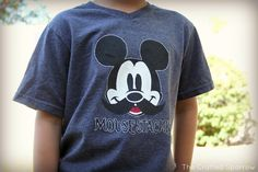 Making Disney Memories - Part 2 {Freezer Paper Stenciled Mickey Shirts} - The Crafted Sparrow