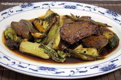 sehr lecker asiatisch marinierte Hüftsteaks mit Gemüse aus dem Wok