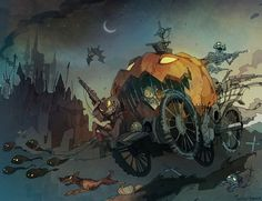 Discover the finest artists working today in animation, illustration and comics. Character Art, Character Design, Pumpkin Carriage, Halloween Artwork, Art Et Illustration, Arte Horror, Fan Art, Artist At Work, Fantasy Art