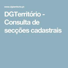 DGTerritório - Consulta de secções cadastrais