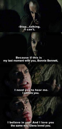 The Vampire Diaries TVD - Damon & Bonnie i adore these two Vampire Diaries Damon, Vampire Diaries Quotes, Vampire Diaries The Originals, Vampire Diaries Spoilers, Bonnie Bennett, Damon Salvatore, Greys Anatomy, Damon And Bonnie, Hello Brother