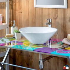 ¿Un escritorio como vanitorio?  #Ideas #Proyectos #Baño #Muebles