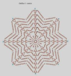 Best 7 beautiful, beautiful, christmas center in crochet. View and share – Crochet Designs Free – SkillOfKing. Crochet Symbols, Crochet Motifs, Crochet Potholders, Crochet Diagram, Crochet Granny, Crochet Doilies, Crochet Flowers, Crochet Stitches, Free Crochet