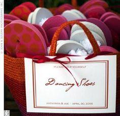 Wedding Preparation: Wedding Welcome Bags Shoe Basket, Wedding Flip Flops, Wedding Welcome Bags, Wedding Preparation, Wedding Quotes, Ceremony Decorations, Goodie Bags, Real Weddings, Destination Weddings