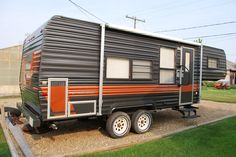 Repainted Exterior 1985 Fleetwood Prowler. My husband painted the exterior to match our truck we use to tow the trailer. This camper is for sale.