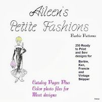HUGE pattern collection of reproductions of vintage Barbie clothes by Aileen's Petite Fashions!