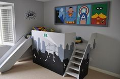 Batman bed for boys - Which of course little man wants totally now ...
