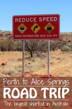 The road trip from Perth to Alice Springs is 3'607 km long if you want to drive on well-developed, sealed roads.