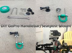 GoPro DIY Handlebar/Seatpost Mount - - - - For about $7, you can make a mount for a bicycle or any pipe about the same size. Also tested on a hockey stick as well...