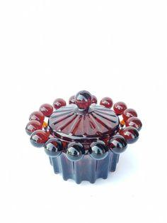 Cukiernica rubinowa Radiant JS Drost Ząbkowice Retro Vintage, Art Deco, Polish, Stud Earrings, Spirals, Antiques, Circles, Vases, Pictures