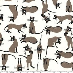 We+are+Siamese+Cats+Cream+Michael+Miller+Fabric+1+by+BellaFabrics,+$8.75- Disney love- lady and Tramp
