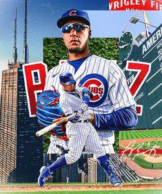 Sports Graphic Design, Chicago Cubs Baseball, Baseball Season, World Series, Mlb, Seasons, Baseball Cards, Sports Posters, Behance