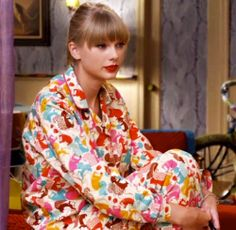 """Get these awesome Squirrel Pajamas in the official Taylor Swift US online store! Limited availability, so hurry before this item scurries off! http://store.taylorswift.com/Squirrel-Pajamas.html  (Taylor wore these in her music video for """"We Are Never Ever Getting Back Together"""")"""