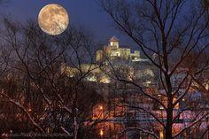 full moon castle in the slovak town called Trenčín