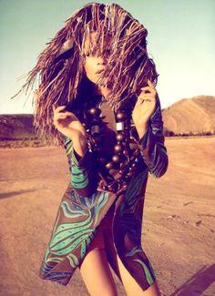Behati Prinsloo by Camilla Akrans for Harper's Bazaar