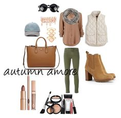 """""""autumn amore"""" by camillastefan1 on Polyvore featuring moda, J Brand, J.Crew, Tory Burch, Accessorize, Henri Bendel, Laura Geller, Forever 21 e maurices"""